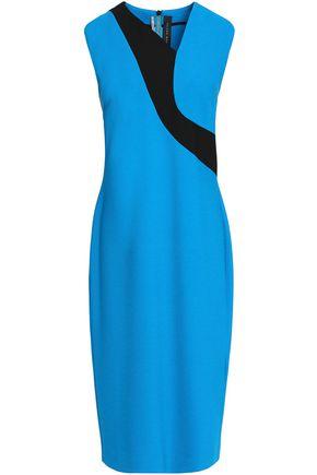 ROLAND MOURET Two-tone crepe dress
