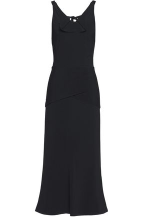 ROLAND MOURET Off-the-shoulder ruffled crepe midi dress