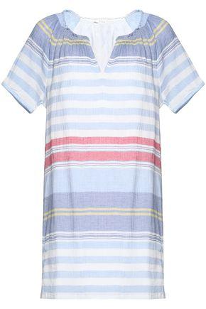 JOIE Striped cotton-gauze mini dress