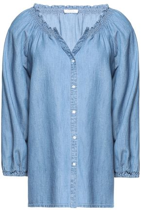 JOIE Cotton-blend chambray shirt