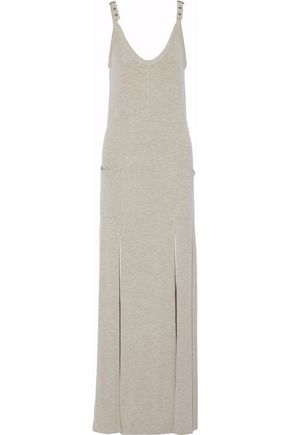 HAUTE HIPPIE Buckled stretch-modal jersey maxi dress