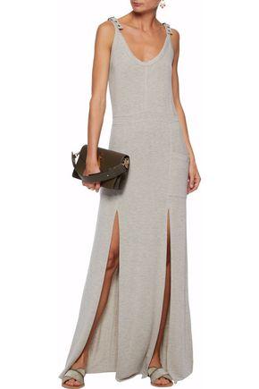 Haute Hippie Woman Buckled Stretch-modal Jersey Maxi Dress Light Gray Size S Haute Hippie HCOKq20F1D