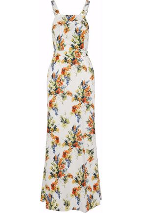HAUTE HIPPIE Floral-print voile maxi dress