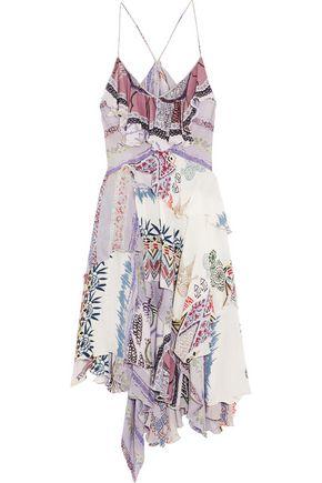 ETRO Layered printed silk dress