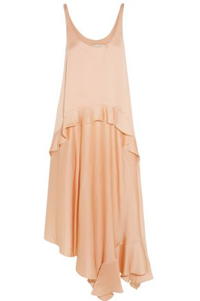 STELLA McCARTNEY Yenna tiered silk-satin dress