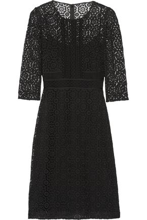 BURBERRY Cotton-blend guipure lace dress