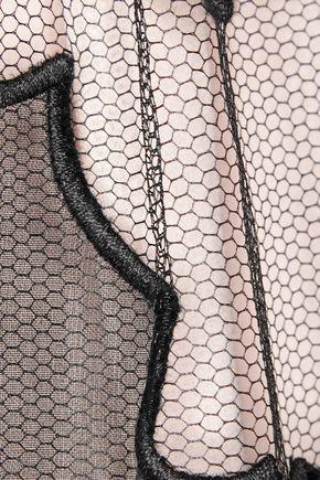 REDValentino Silk organza-paneled tulle mini dress