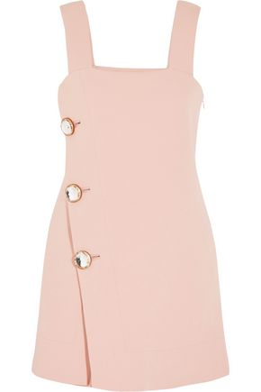 MARNI Crystal-embellished crepe mini dress