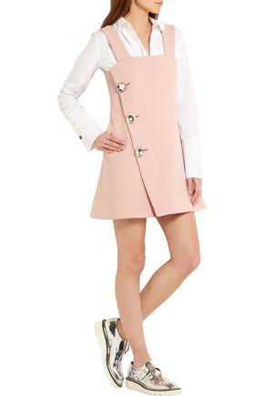MARNI Crystal-embellished crepe mini dress