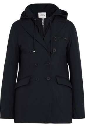 TOD'S Two-piece hooded padded shell jacket