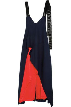 MARNI Cutout wool-blend and satin dress