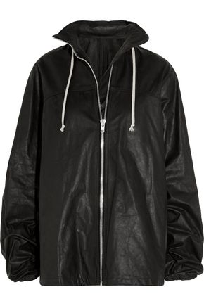 RICK OWENS Waxed-leather jacket