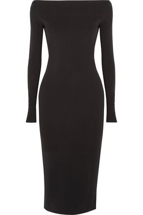 NARCISO RODRIGUEZ Off-the-shoulder stretch-crepe dress
