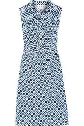 MARNI Printed silk crepe de chine dress