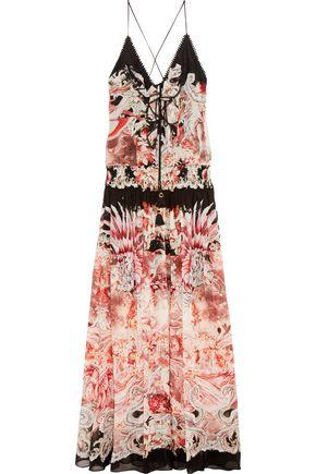 ROBERTO CAVALLI Phoenix printed silk-georgette gown