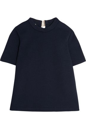 MARNI Open-back crepe top