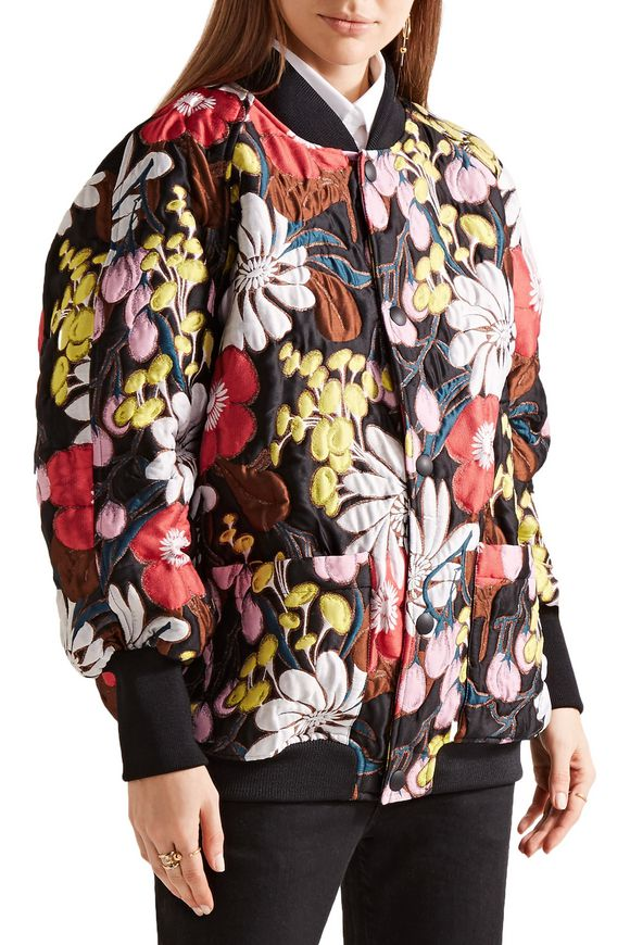Oversized floral-print matelassé bomber jacket | MARNI | Sale up to 70% off  | THE OUTNET