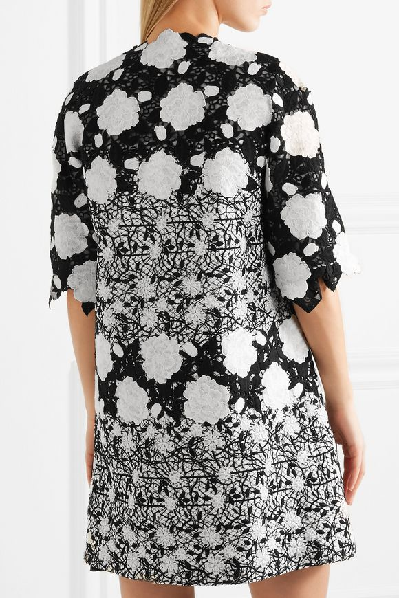 Embroidered tweed and guipure lace jacket | GIAMBATTISTA VALLI | Sale up to  70% off | THE OUTNET