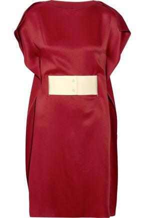 MM6 by MAISON MARGIELA Belted satin dress