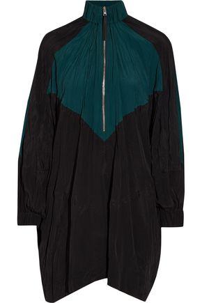 MARNI Oversized color-block crinkled-shell mini dress