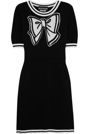 BOUTIQUE MOSCHINO Intarsia cotton mini dress