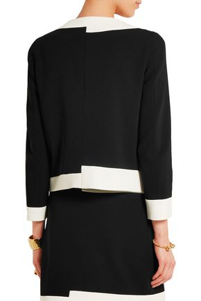BOUTIQUE MOSCHINO Two-tone crepe jacket