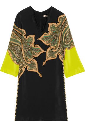 ETRO Paisley-print silk crepe de chine dress