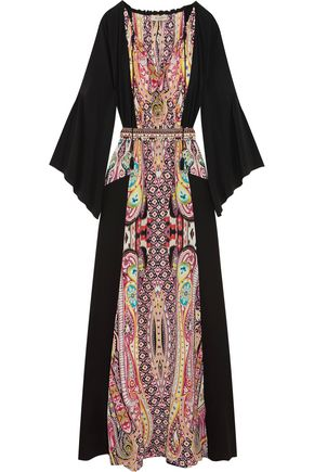ETRO Printed silk crepe de chine gown