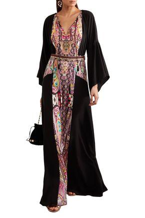 ETRO Printed silk crepe de chine gown