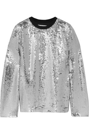 MSGM Sequined mesh top
