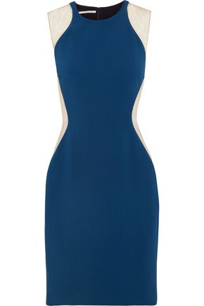 STELLA McCARTNEY Eliana tulle-paneled stretch-cady dress