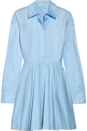 STELLA McCARTNEY Leile fluted cotton-twill mini dress