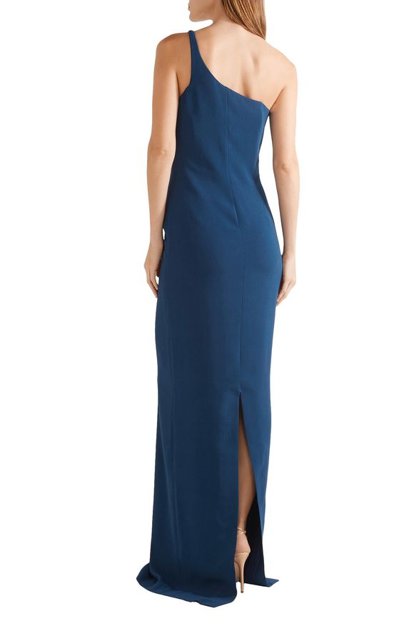 One-shoulder layered crepe gown | STELLA McCARTNEY | Sale up to 70% off |  THE OUTNET