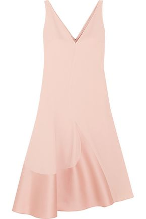 STELLA McCARTNEY Asymmetric stretch-cady and sateen dress
