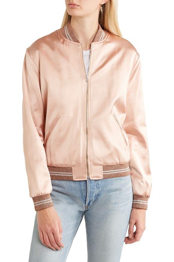 Embellished satin bomber jacket   SAINT LAURENT   Sale up to 70% off   THE  OUTNET