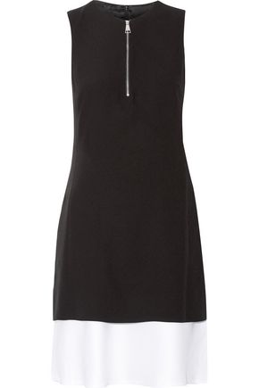 KARL LAGERFELD Layered crepe and satin mini dress