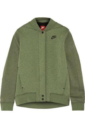 NIKE Tech Fleece perforated cotton-blend jersey jacket