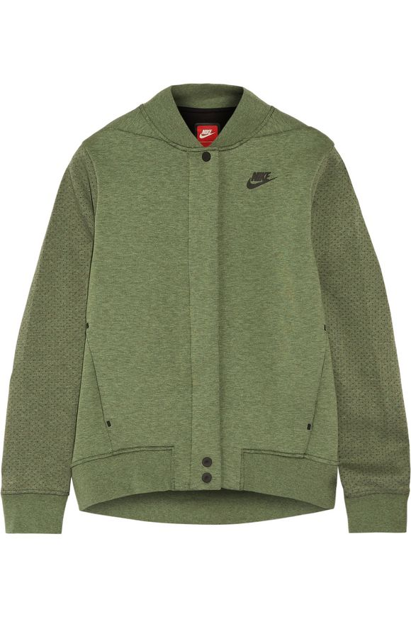 147f8af15e48 Tech Fleece perforated cotton-blend jersey jacket