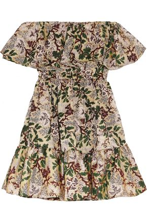 PHILOSOPHY di LORENZO SERAFINI Off-the-shoulder floral-jacquard mini dress