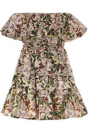 PHILOSOPHY di LORENZO SERAFINI Ruffled floral-jacquard mini dress