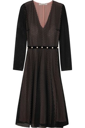 PHILOSOPHY di LORENZO SERAFINI Faux pearl-embellished cotton-blend lace dress