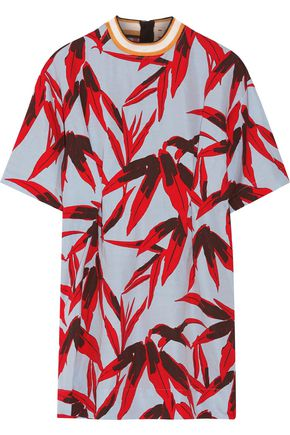 MARNI Printed poplin mini dress