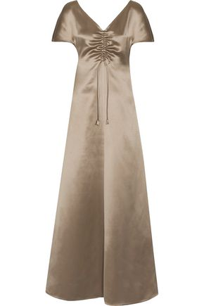 BARBARA CASASOLA Silk-satin maxi dress