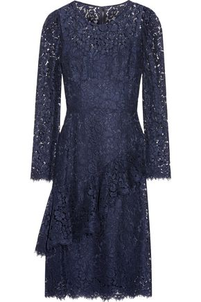DOLCE & GABBANA Ruffled corded lace dress