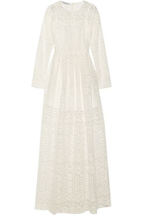 PHILOSOPHY di LORENZO SERAFINI Macramé lace maxi dress