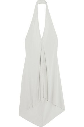 RICK OWENS Oversized stretch-jersey halterneck top