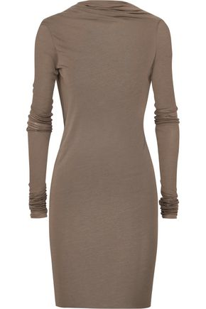 RICK OWENS Draped open-back stretch-jersey mini dress