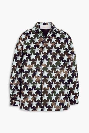 VALENTINO Oversized printed cotton-twill jacket