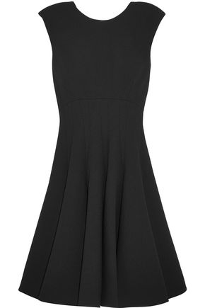 MIU MIU Bow-embellished wool-crepe mini dress