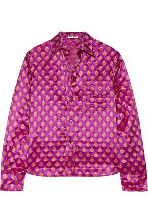 MIU MIU Metallic jacquard shirt